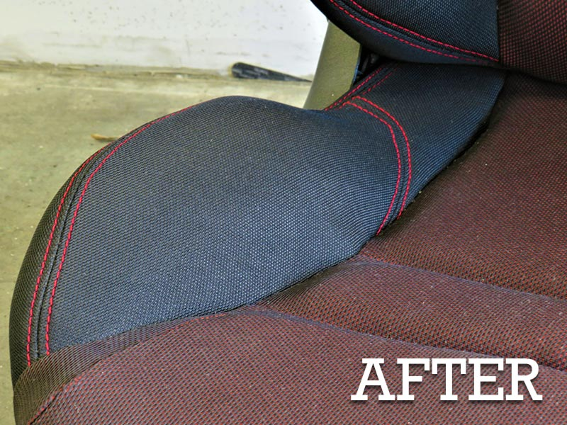 Doctor Cuts vehicle repairs - ripped seat after